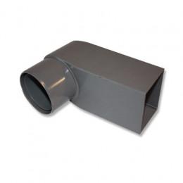 Flachdacheinlauf PVC Maße 60x100 mm Rohr 80-100 mm